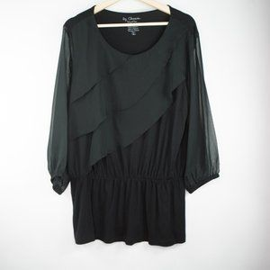 CHICOS Scalloped Layers TUNIC Top Large